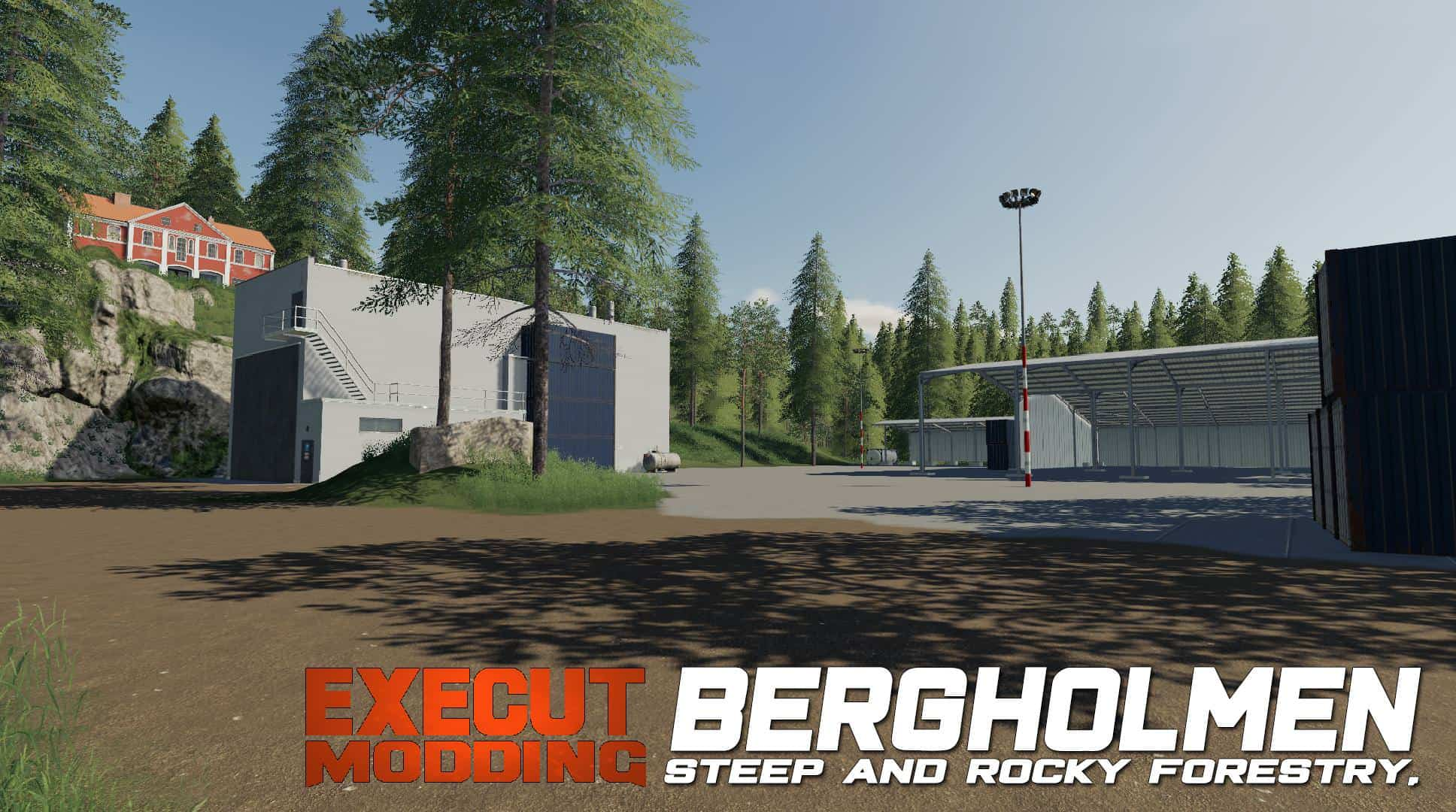 Bergholmen Hardcore Forestry Map - Farming Simulator 19 Mod / FS19