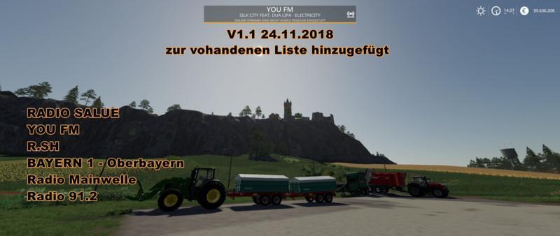 Radio Stream Germany v1 3 - Farming Simulator 19 Mod / FS19