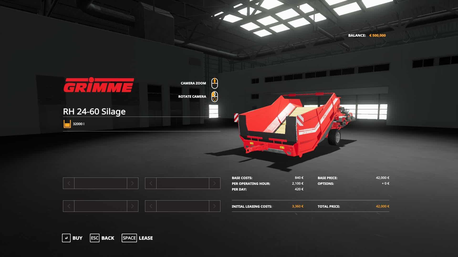 Grimme RH2460 Edit Silage v1 0 Mod - Farming Simulator 19 Mod / FS19