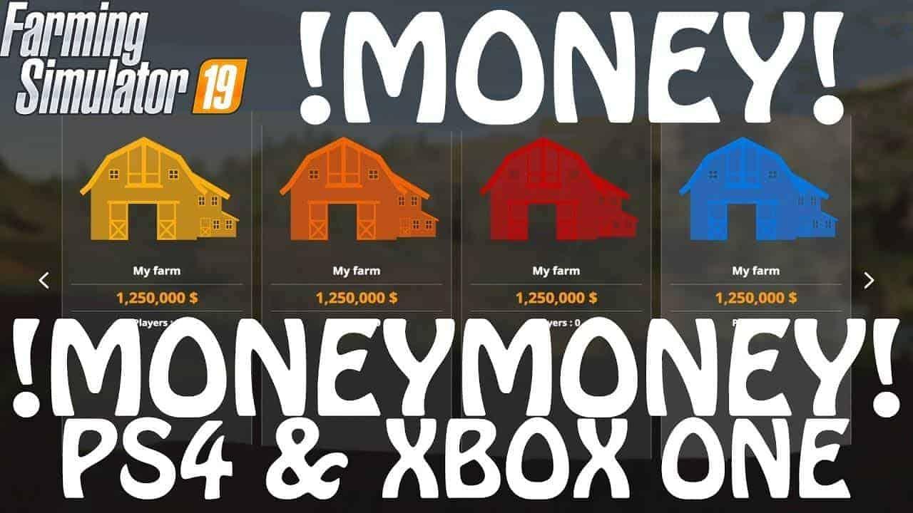 Money Cheat on PS4 & Xbox One v1 0 - Farming Simulator 19 Mod / FS19