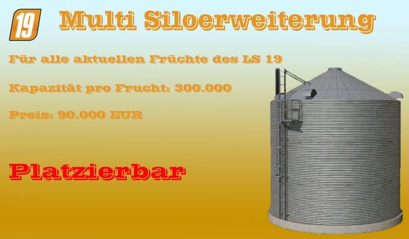 Multi silo extension V 1 2 Mod - Farming Simulator 19 Mod / FS19