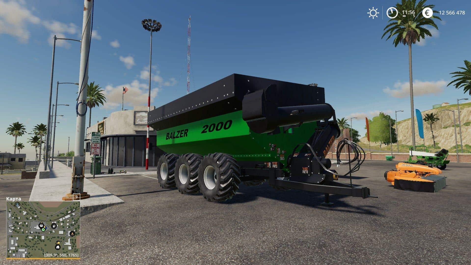 BALZER 2000 GRAIN CART v1 0 Trailer - Farming Simulator 19 Mod / FS19