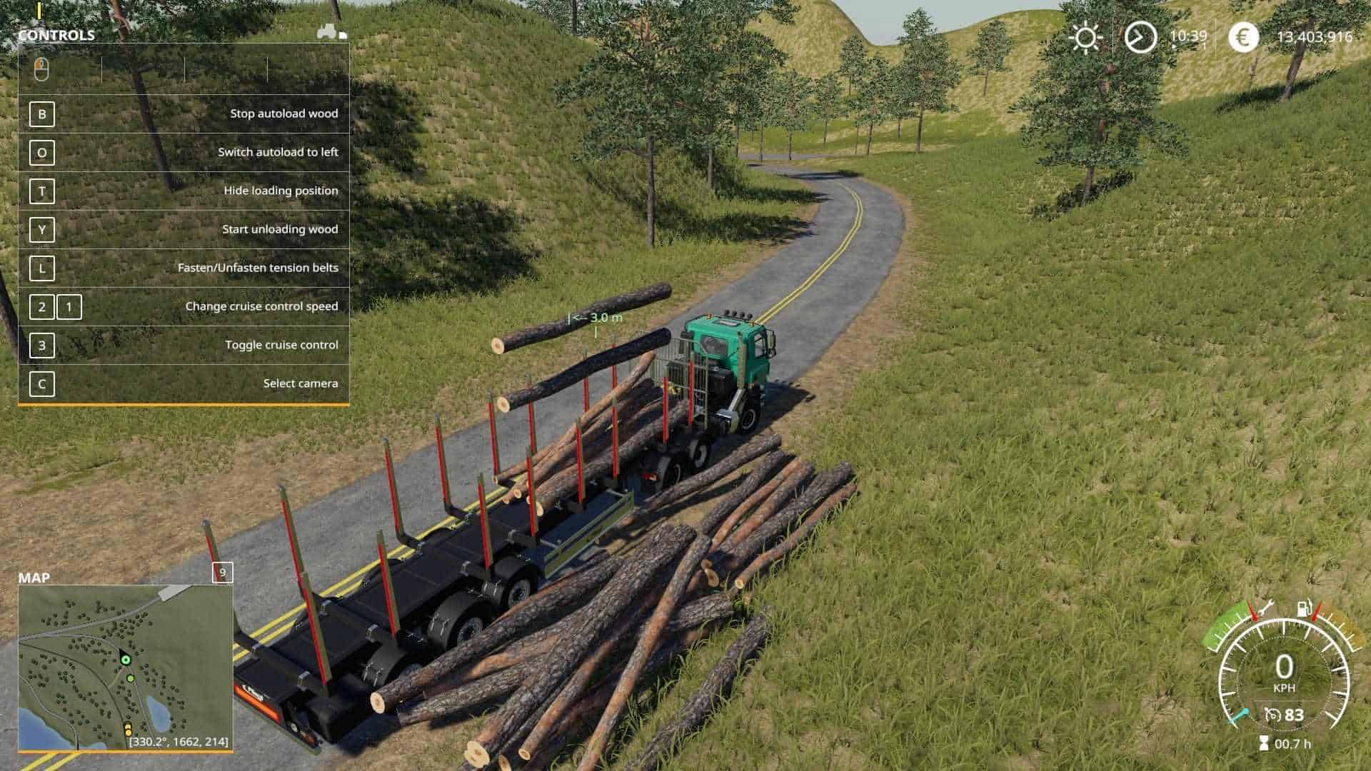Fliegl Timber Runner With Autoload Wood v1 0 Mod - Farming