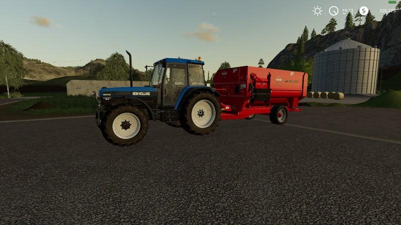 Kuhn RA142 feed wagon V 1 Trailer - Farming Simulator 19 Mod / FS19