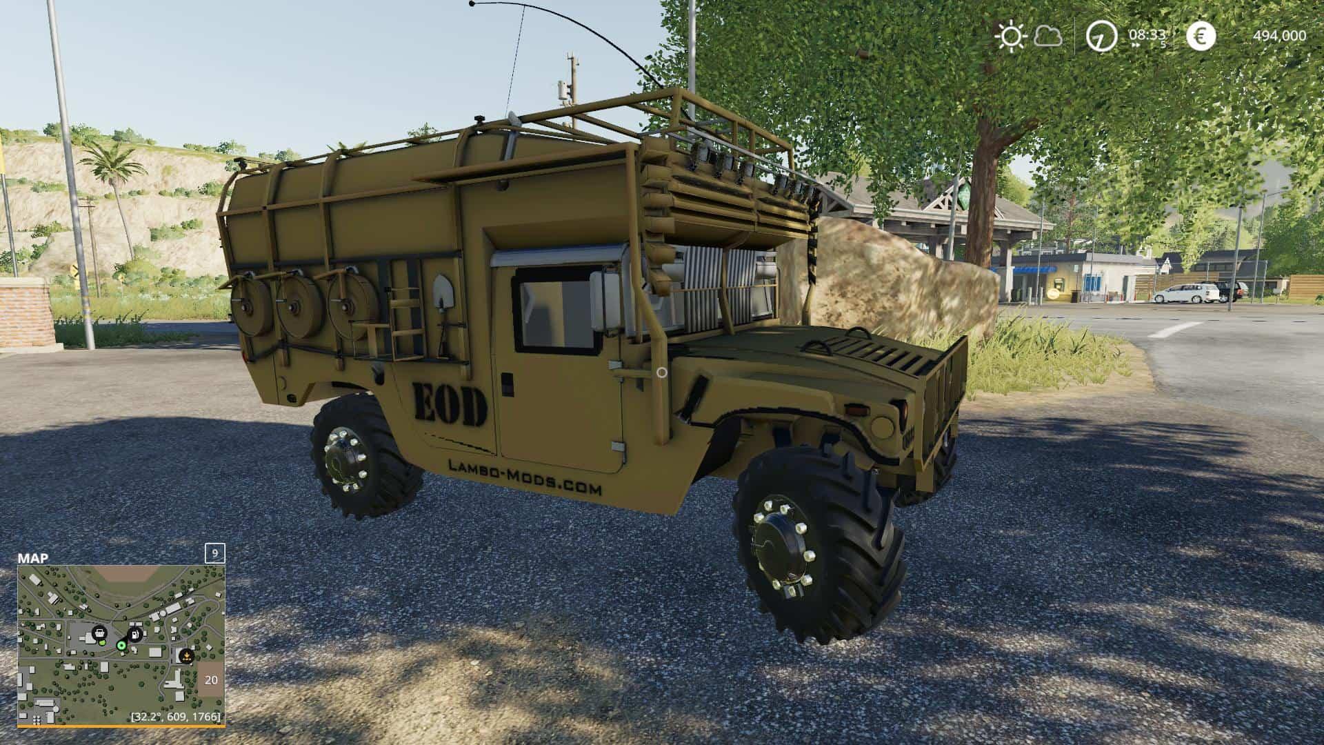 Army humvee v1 0 Mod - Farming Simulator 19 Mod / FS19