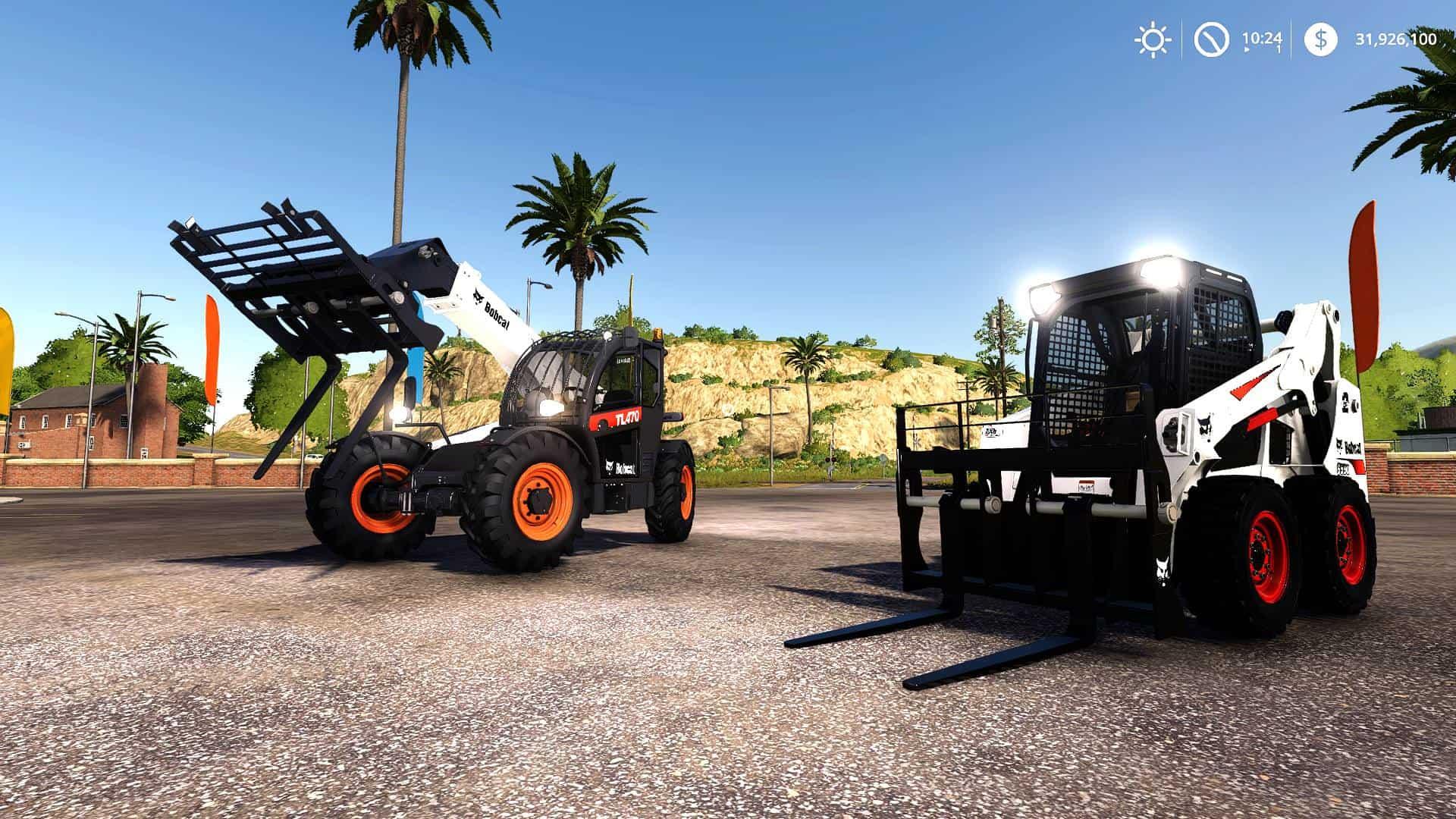 Bobcat 590 and Bobcat SkidSteer - Farming Simulator 19 Mod