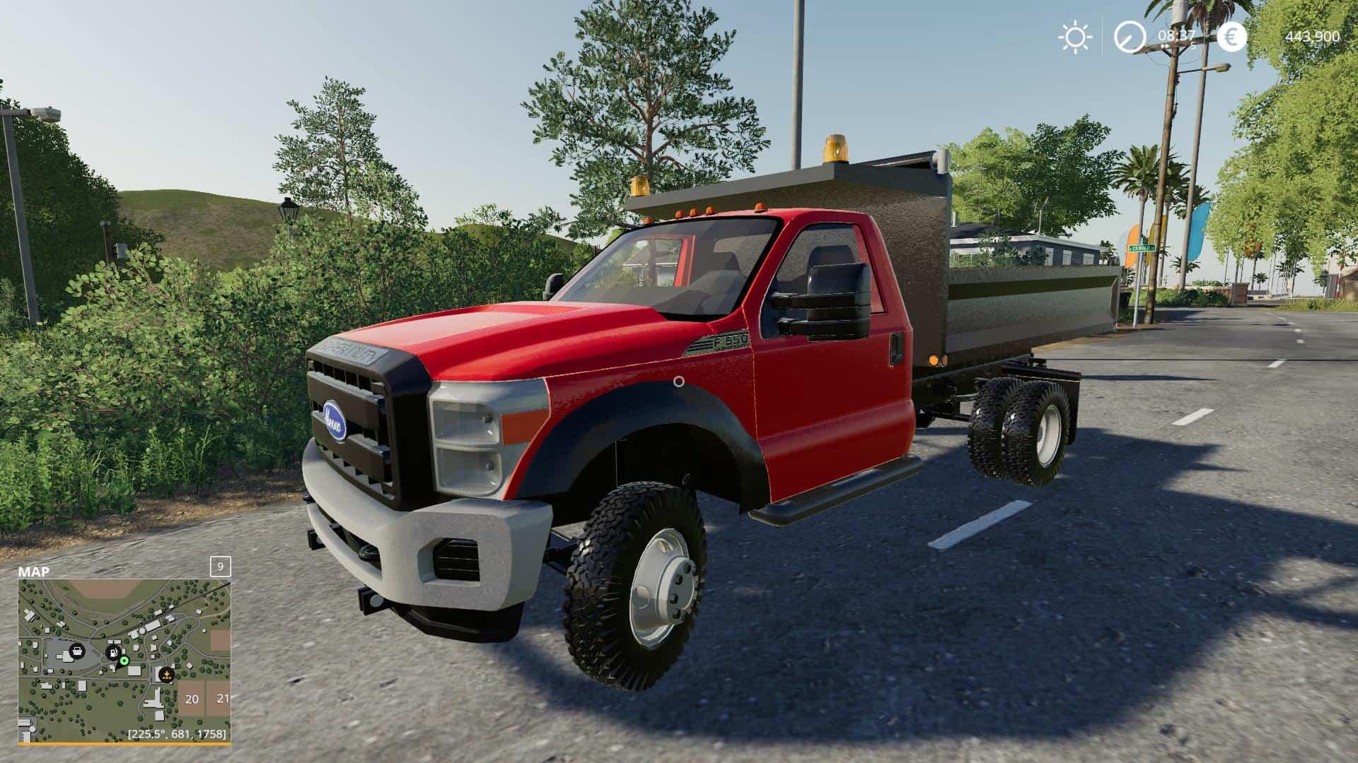 F550 dump truck v1 0 Mod - Farming Simulator 19 Mod / FS19