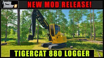 FDR Logging - Tigercat 880 v1 0 Mod - Farming Simulator 19