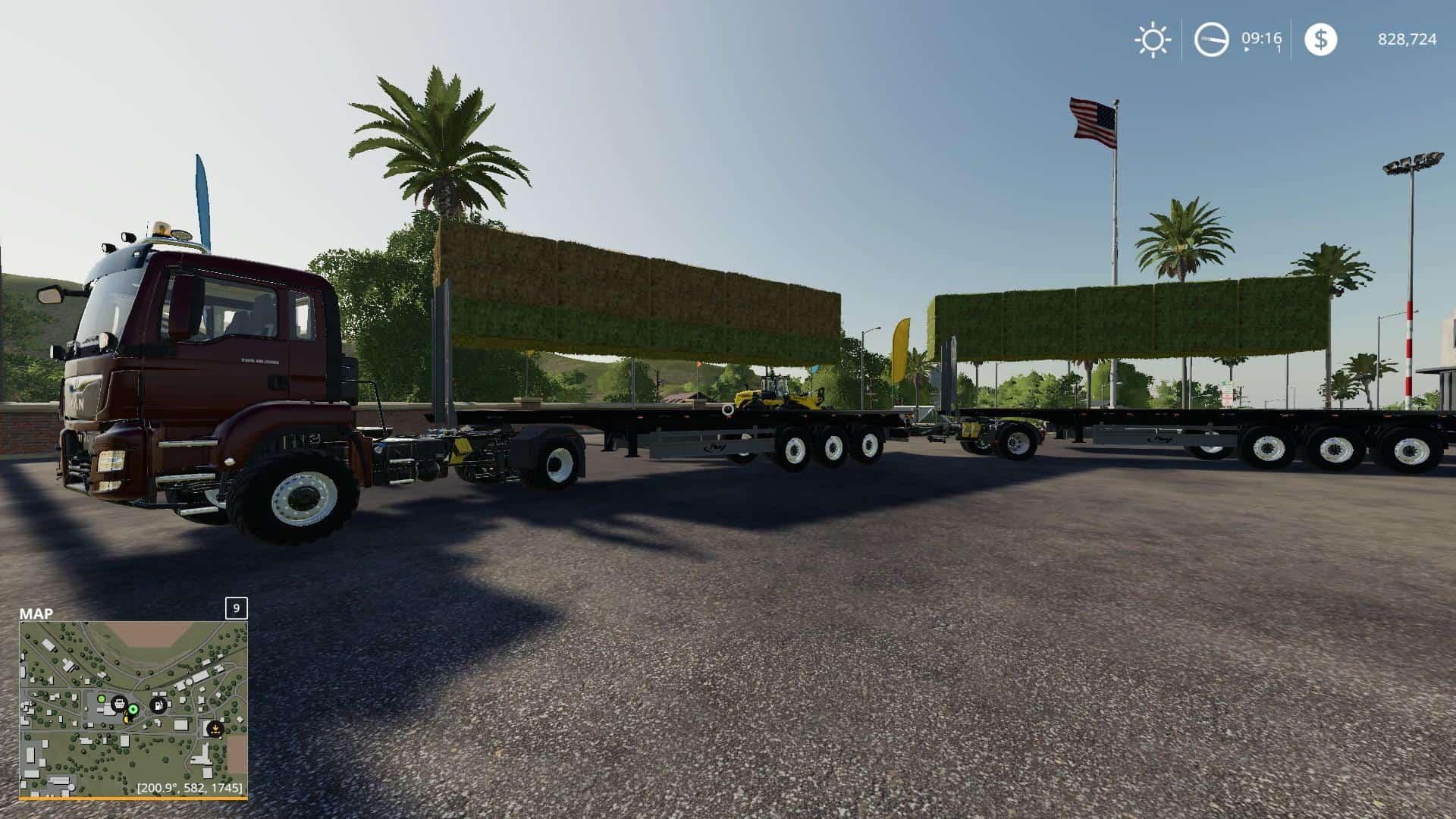Fliegl flatbed squarebale autoload v1 0 0 3 Mod - Farming Simulator