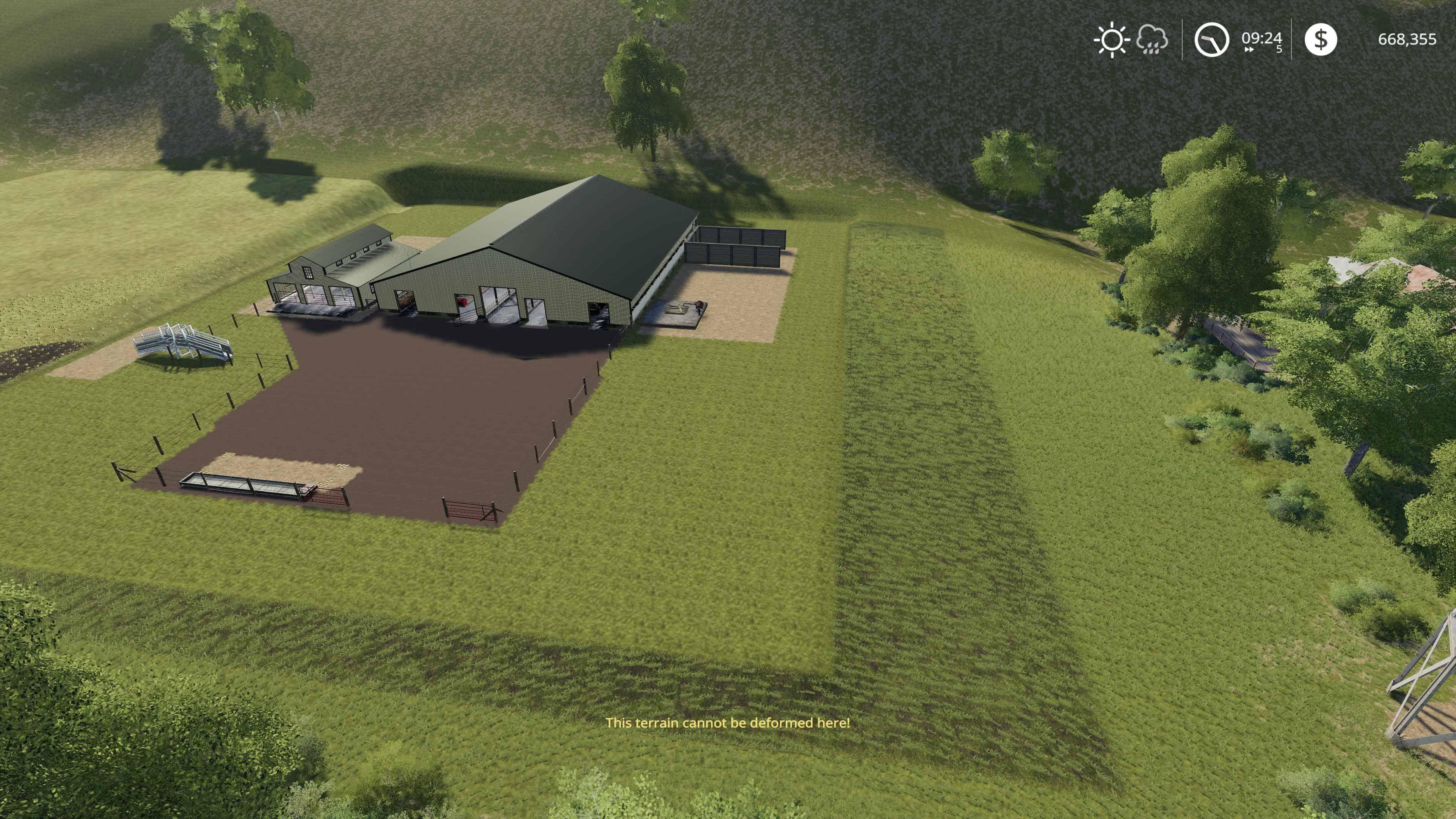 Large American Cow Shed v1 0 Mod - Farming Simulator 19 Mod