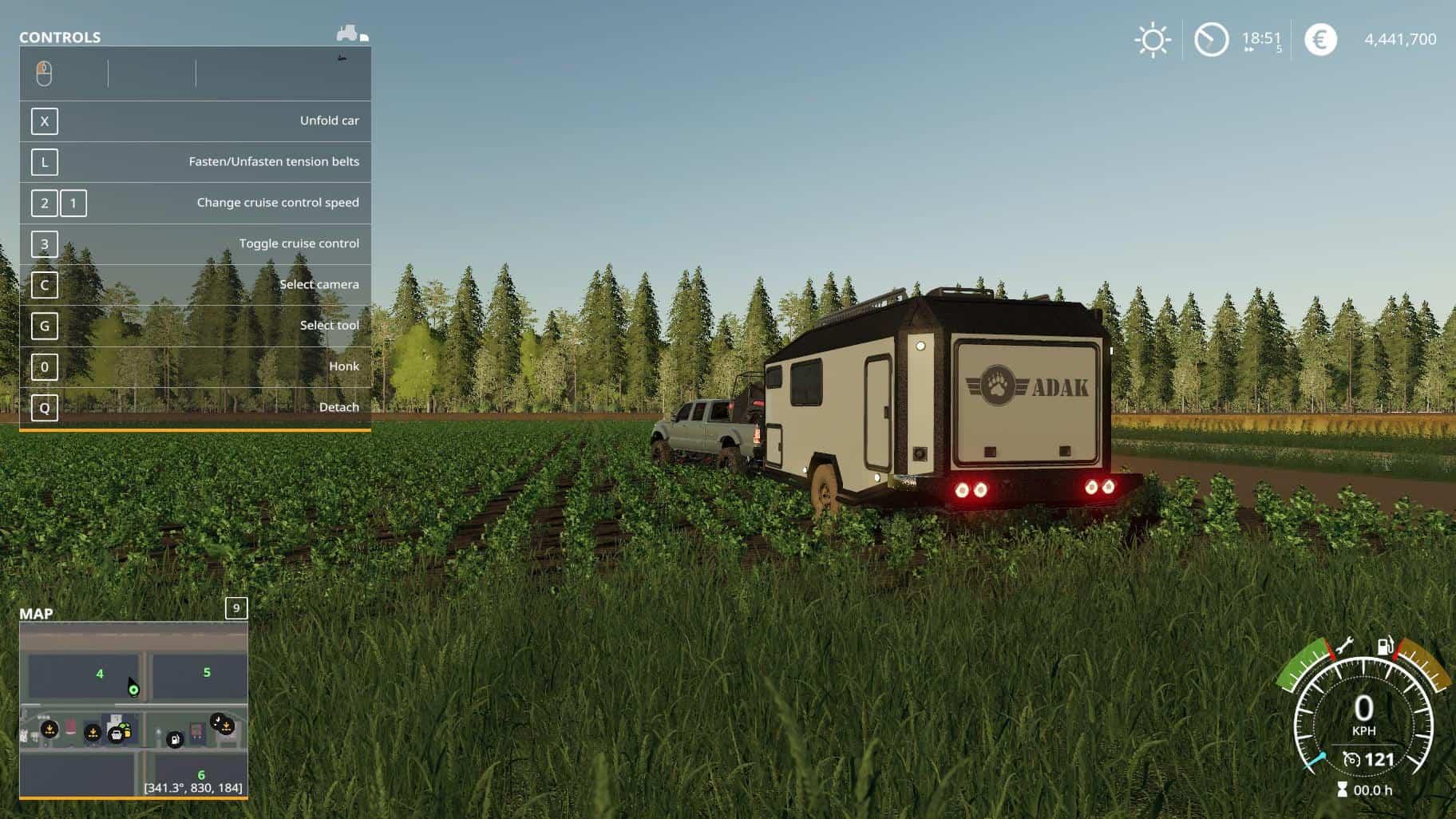 ADAK OFF ROAD CAMPER V1 0 Mod - Farming Simulator 19 Mod / FS19
