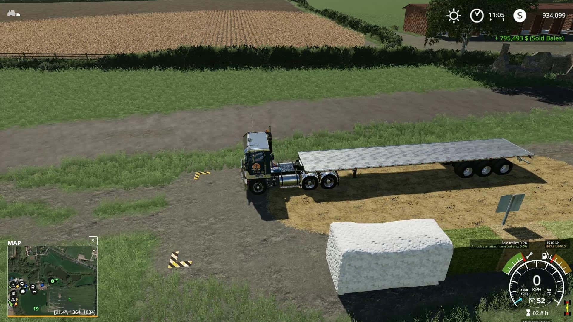 BALE SALE POINT (PLACEABLE) V1 0 Mod - Farming Simulator 19 Mod / FS19