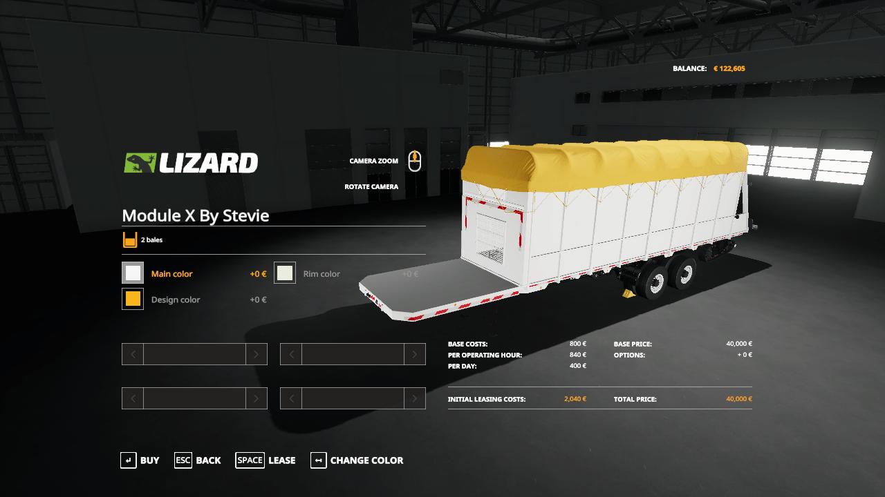 Module X cotton bale trailer Mod - Farming Simulator 19 Mod / FS19