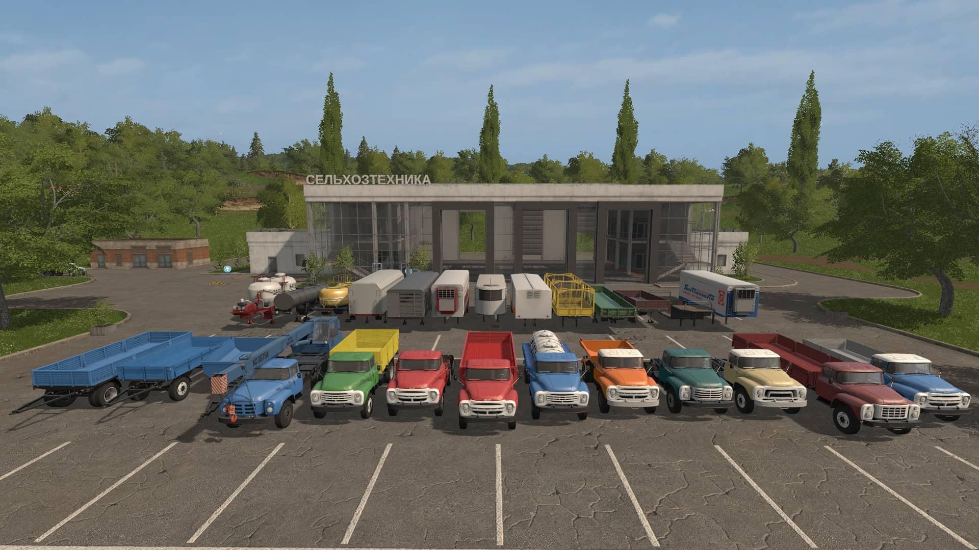 ZiL Truck pack v1.0.0.2 - Farming Simulator 19 Mod / FS19 on