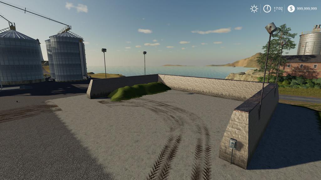 Lighted Bunker Silo v1 0 0 0 Mod - Farming Simulator 19 Mod / FS19