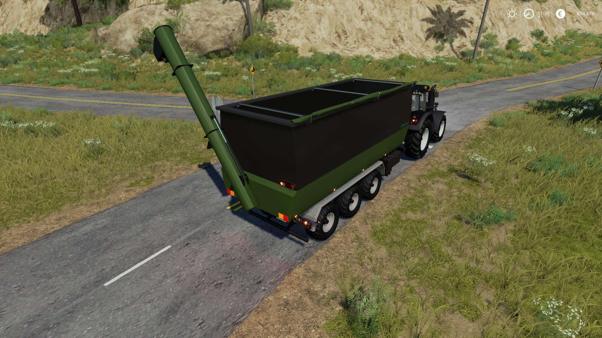 Peecon hooklift Auger Container v1 0 0 0 Mod - Farming
