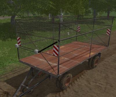 HW80 Bale Trailer v1 0 0 0 Mod - Farming Simulator 19 Mod / FS19