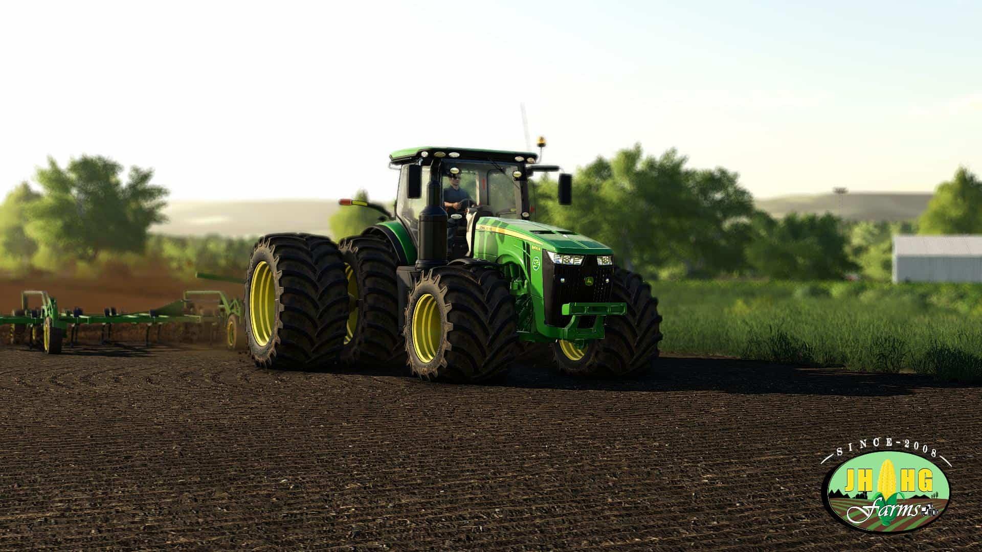 John Deere 8R US Series 2018 v3 1 Mod - Farming Simulator 19 Mod / FS19