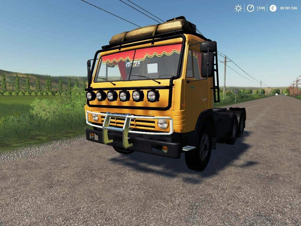 Kamaz 53212 + SEMI TRAILER v1 0 0 7 Mod - Farming Simulator 19 Mod