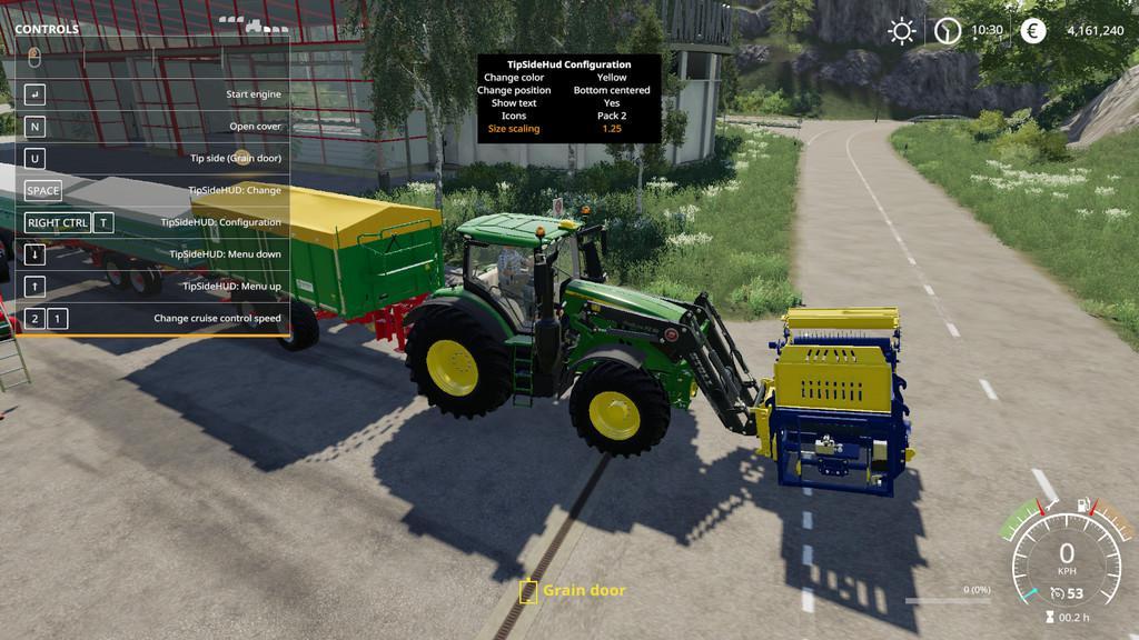 Tip Side HUD v1 0 0 1 Mod - Farming Simulator 19 Mod / FS19