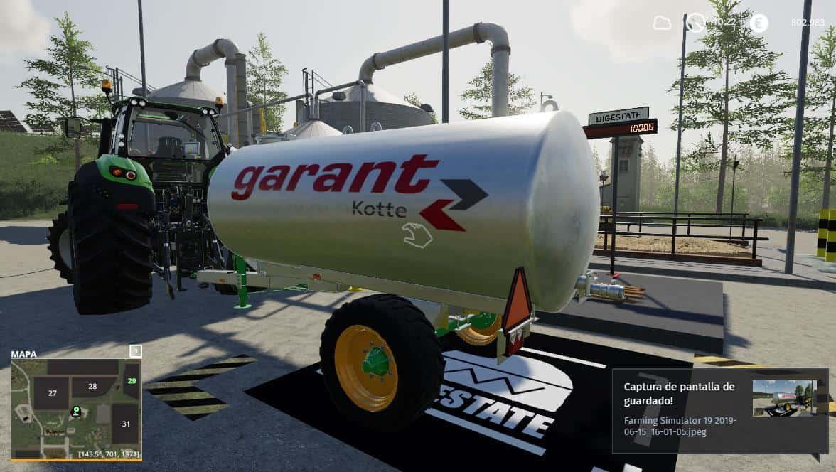 Kotte Digestate Trans 10000 v1 0 Mod - Farming Simulator 19 Mod / FS19