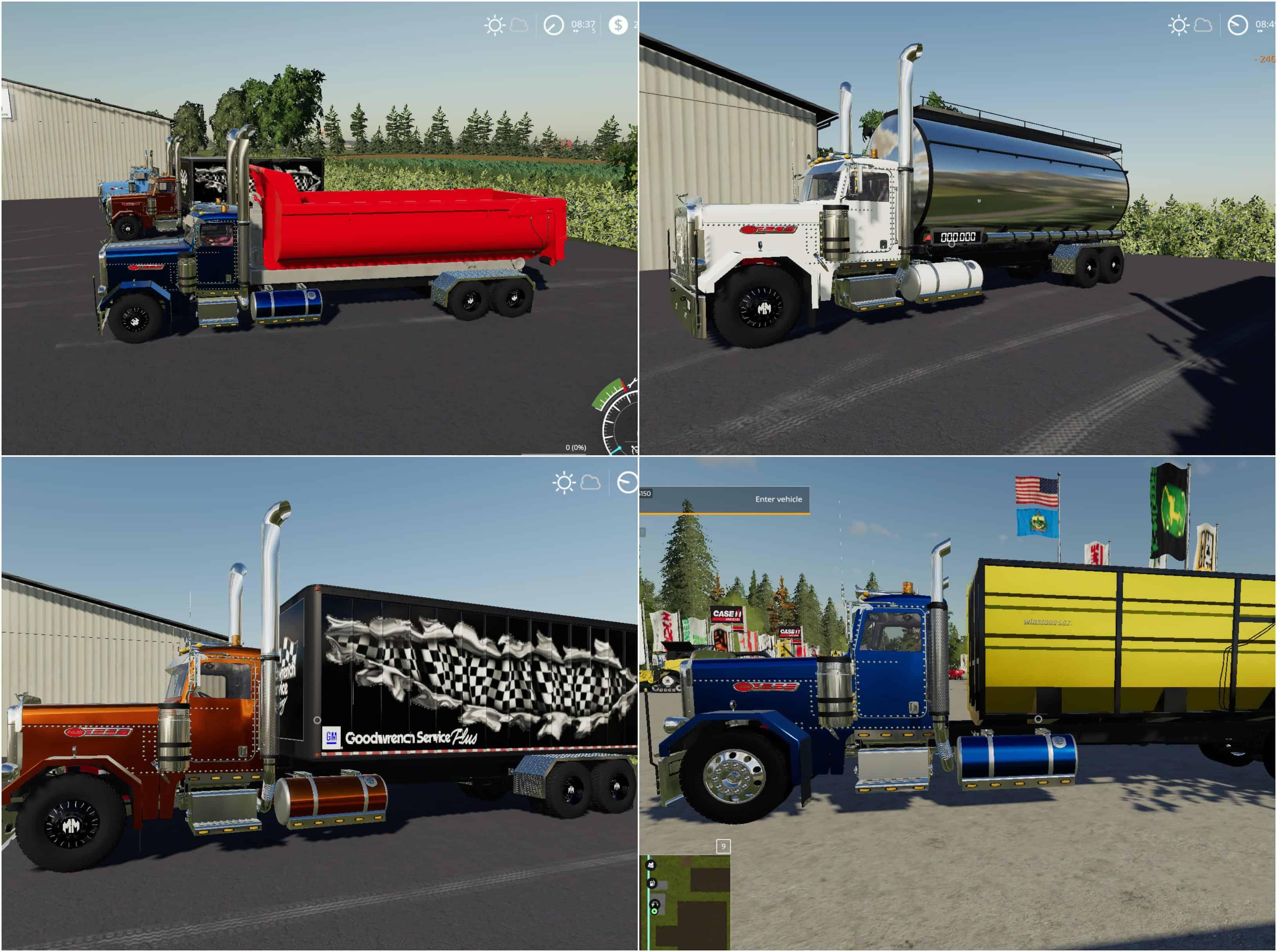 Peterbilt Trucks Pack v1 0 0 0 Mod - Farming Simulator 19