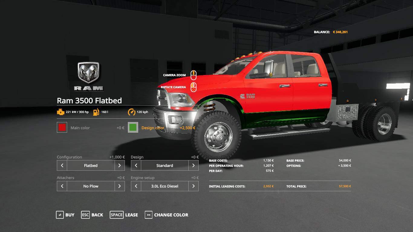 Dodge Ram 3500 V1 0 Mod Farming Simulator 19 Mod Fs19